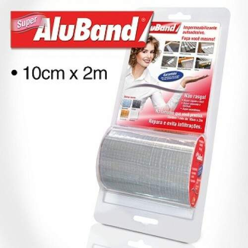Aluband Cinza Super 10cmX2m