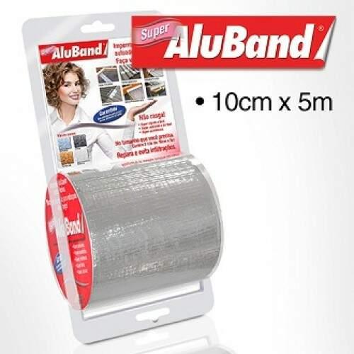 Aluband Cinza Super 10cmX5m