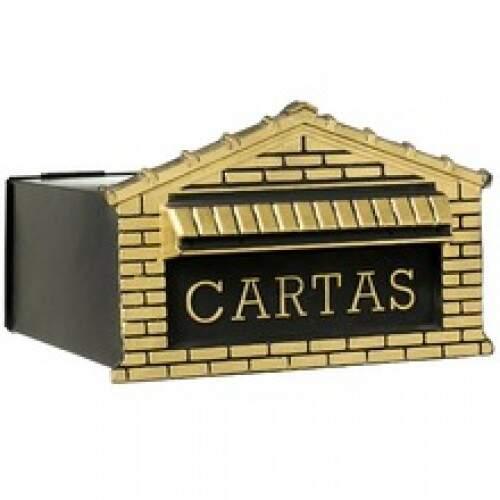Caixa Correio Tijolinhos Inox 15X25 P/ Muro Ouro