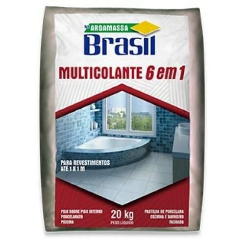 Argamassa Brasil 6x1 Multicolante Cinza 20KG