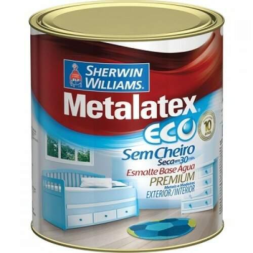 Tinta Metalatex Branco Acetinado Esmalte Sintético 900ml
