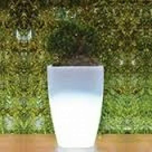 Vaso Cachepot Luminoso Quadrado Grande 0,81X0,52