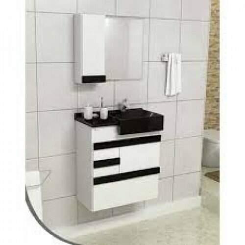 Conjunto (Gab; Pia; Esp; MOD) Smart 60cm Onix/Branco