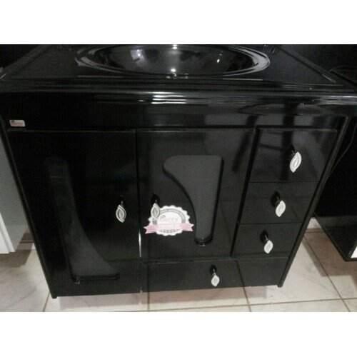 Gabinete P/ Banheiro (Sem Pia) Plus 0.76cm Onix